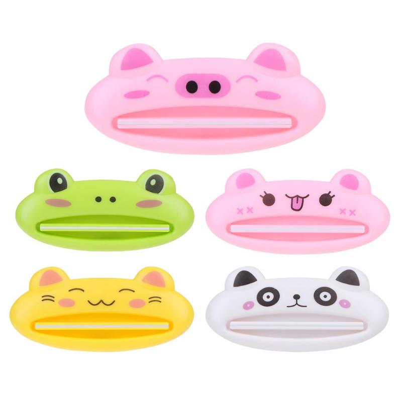 Cute Animal Plastic Toothpaste Squeezer Bath Toothbrush Holder Bathroom Sets Home Commodity Bathroom Tube Toothpaste Squeeze
