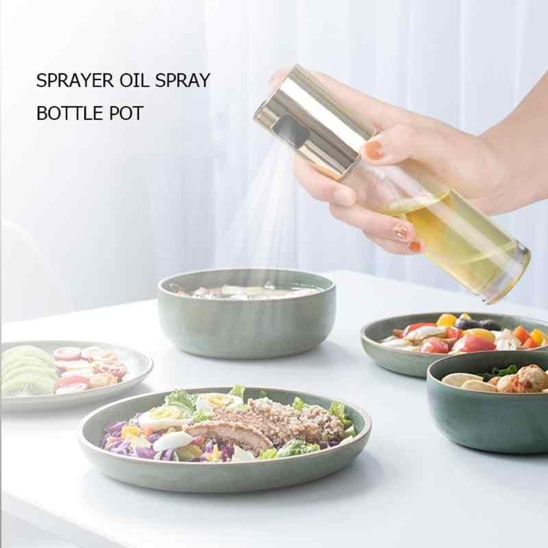 100ML ze stali nierdzewnej oliwa z oliwek ocet opryskiwacz butelka na oliwę z rozpylaczem butelka oleju dozownik oleju do gotowania kuchnia narzędzia kuchenne