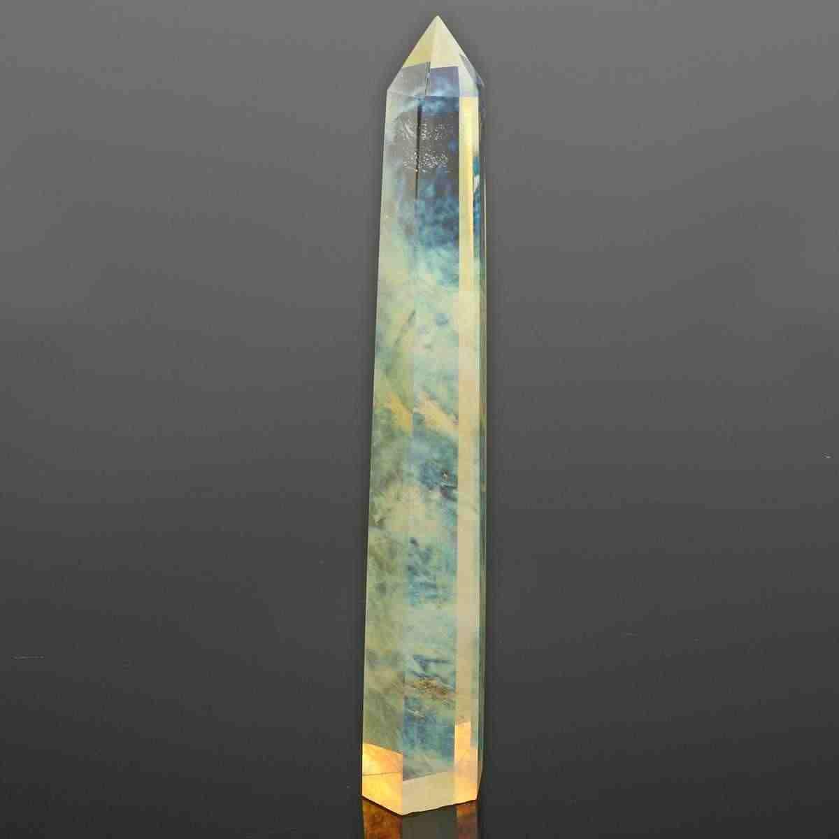 20 ซม.หายาก Citrine คริสตัลควอตซ์ Wand Point คริสตัลหิน Wand Stick อัญมณี DIY Decor Home เครื่องประดับหิน