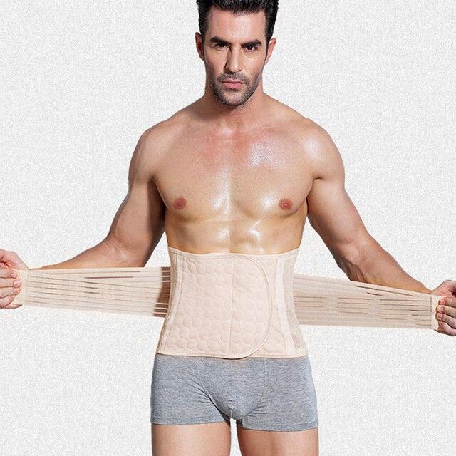 Men Body Shaper Slimming Waist Trimmer Belt Corset Beer Belly Fat Cellulite Burner Tummy Control Stomach Girdle 3