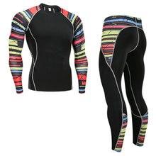 Мужское термобелье, комплект спортивной одежды с базовым слоем, быстросохнущее термобелье для катания на лыжах, походов, бега, обтягивающие спортивные мужские S-4XL