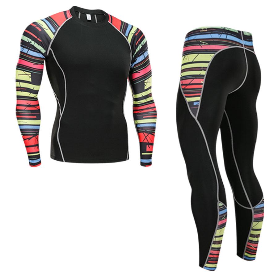 Men's Thermal Underwear Set Sports Base Layer Clothing Quick-drying Thermal Underwear Ski Hiking Running Tight Sports Men S-4XL