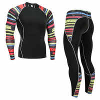 Men's thermal underwear set sports base layer clothing quick-drying thermal underwear ski hiking running tight sports men S-4XL