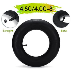 High Quality 4.80/4.00-8 Trolley Pneumatic Wheel Inner Tube Rubber Curved/Straight Mouth for 2.50 x 8 inches Trolley Tires