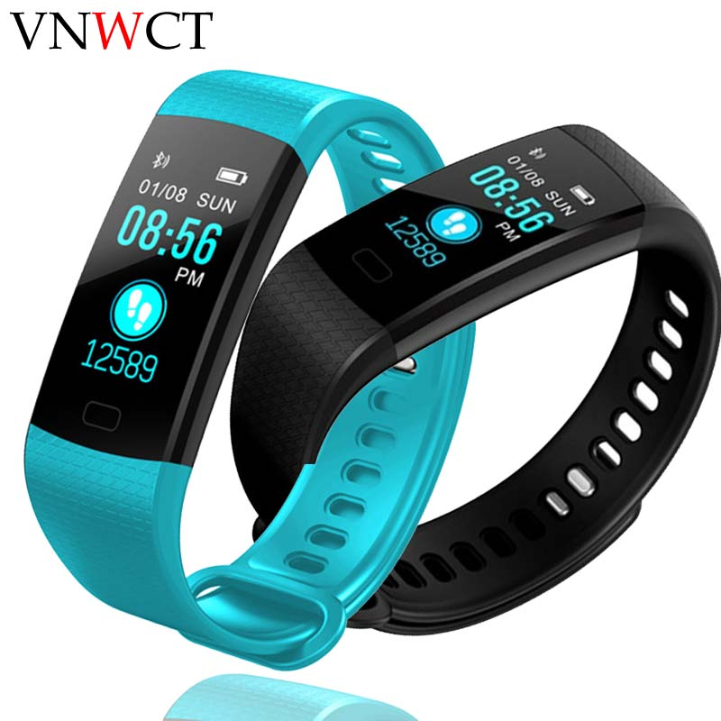 Brand Sport Bracelet <font><b>Watch</b></font> Women <font><b>Men</b></font> LED <font><b>Waterproof</b></font> <font><b>Smart</b></font> Wrist Band Heart rate Blood Pressure Pedometer Clock For Android iOS image