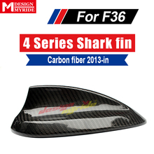 F36 Carbon Fiber Car Roof Antenna B-Style For 4 Series 420i 428i 430i 435 Aerials Stickers Cover Shark Fin Car-Styling 2013+