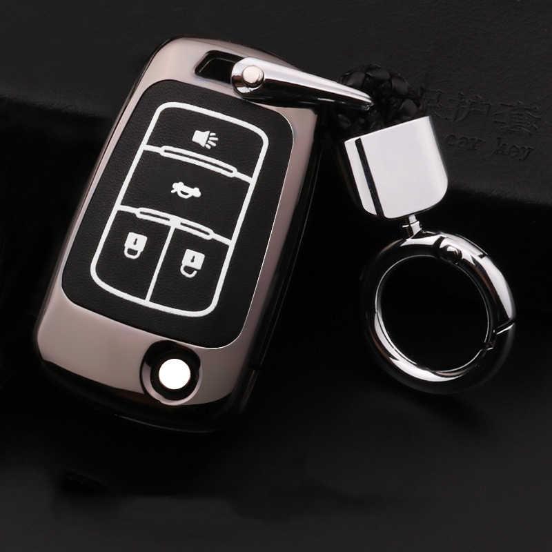 Çinko alaşım + aydınlık araba uzaktan anahtar kılıfı için Chevrolet Chevy Cruze Spark Onix Volt Aveo OPEL Insignia için astra J Zafira