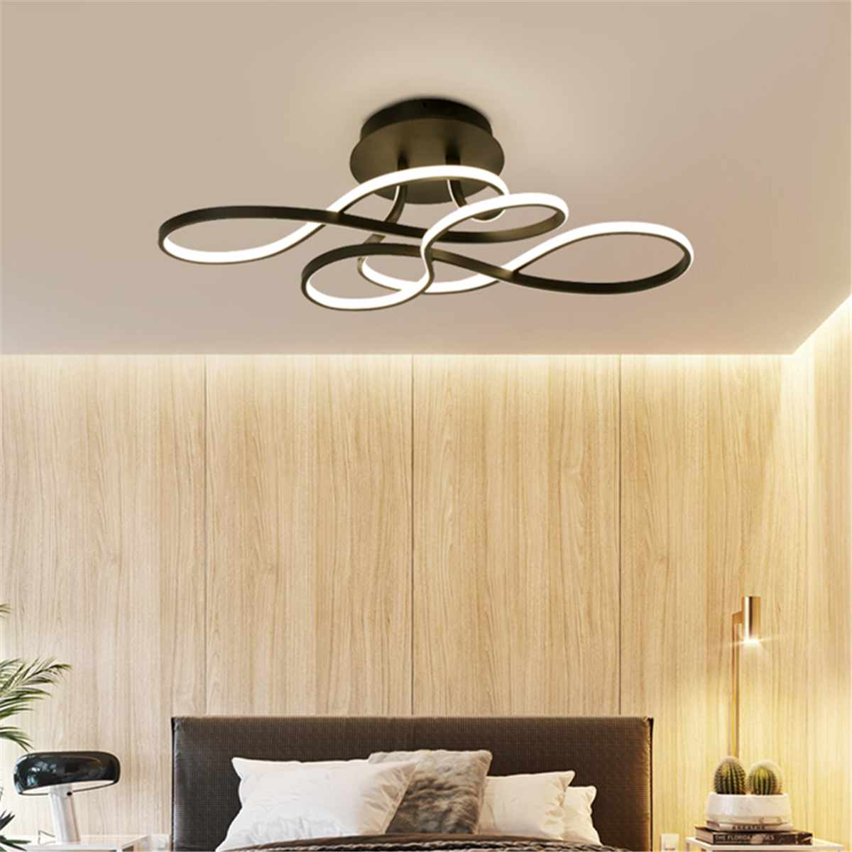 Lights Ceiling Minimalist Acrylic Led Ceiling Lights For Living Room Bedroom Ceiling Lamp Warm White Lamp Remote Control Indoor Lighting