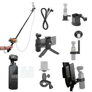 Image 2 - For Osmo Pocket Accessories Set,Ptz Adapter With Ptz Extension Rod And Car Bracket And Bicycle Bracket And Film 2 Suit And Bac