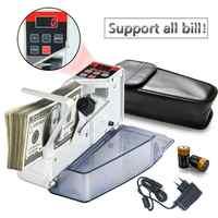Portable Handy Money Counter for Most Currency Note Bill Cash Counting Machine EU-V40 Financial Equipment EU Plug