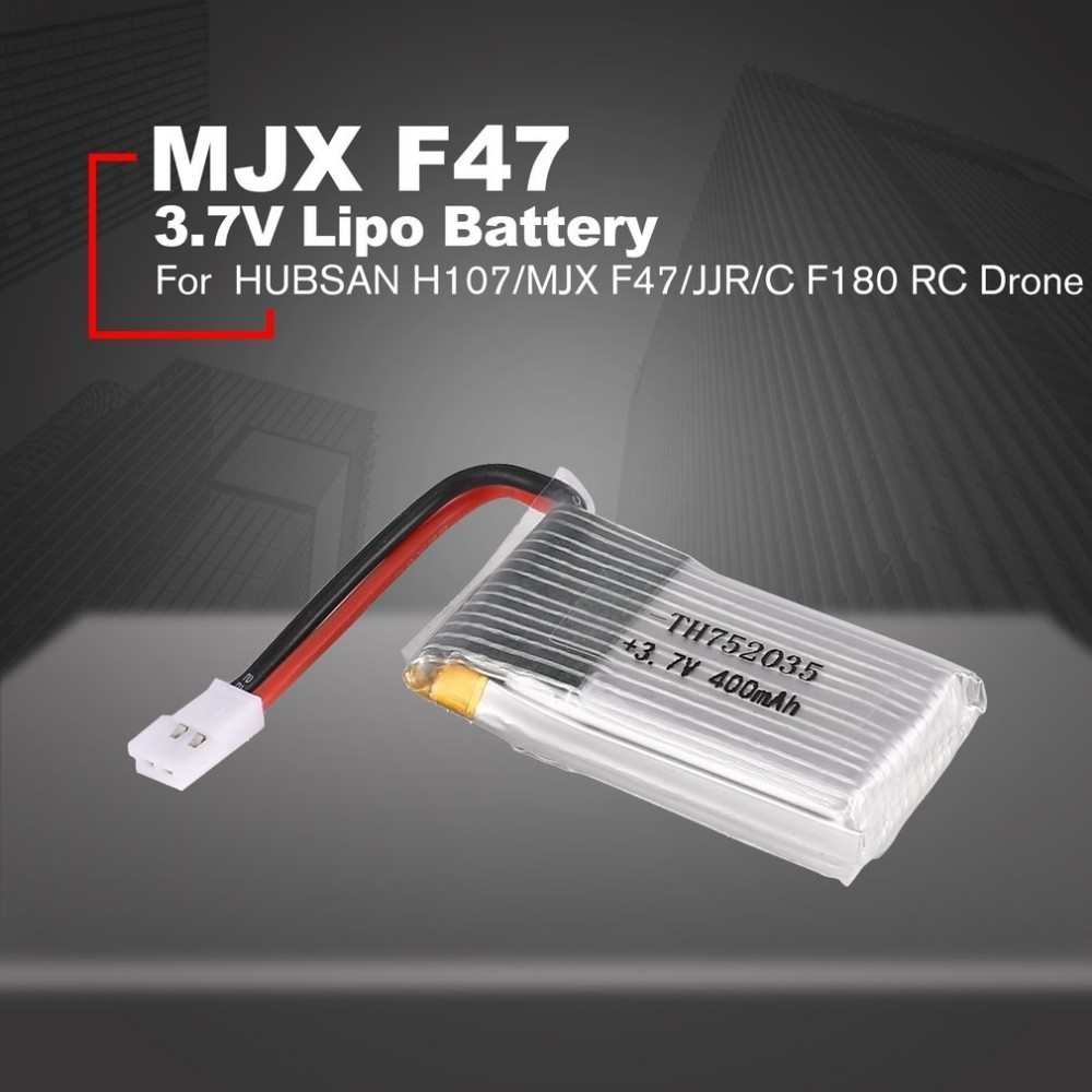 2PCS <font><b>3.7V</b></font> <font><b>400mAh</b></font> Li-po Battery for HUBSAN H107/MJX F47/JJR/C F180 RC Drone Quadcopter Aircraft UAV Spare Part Accessories image