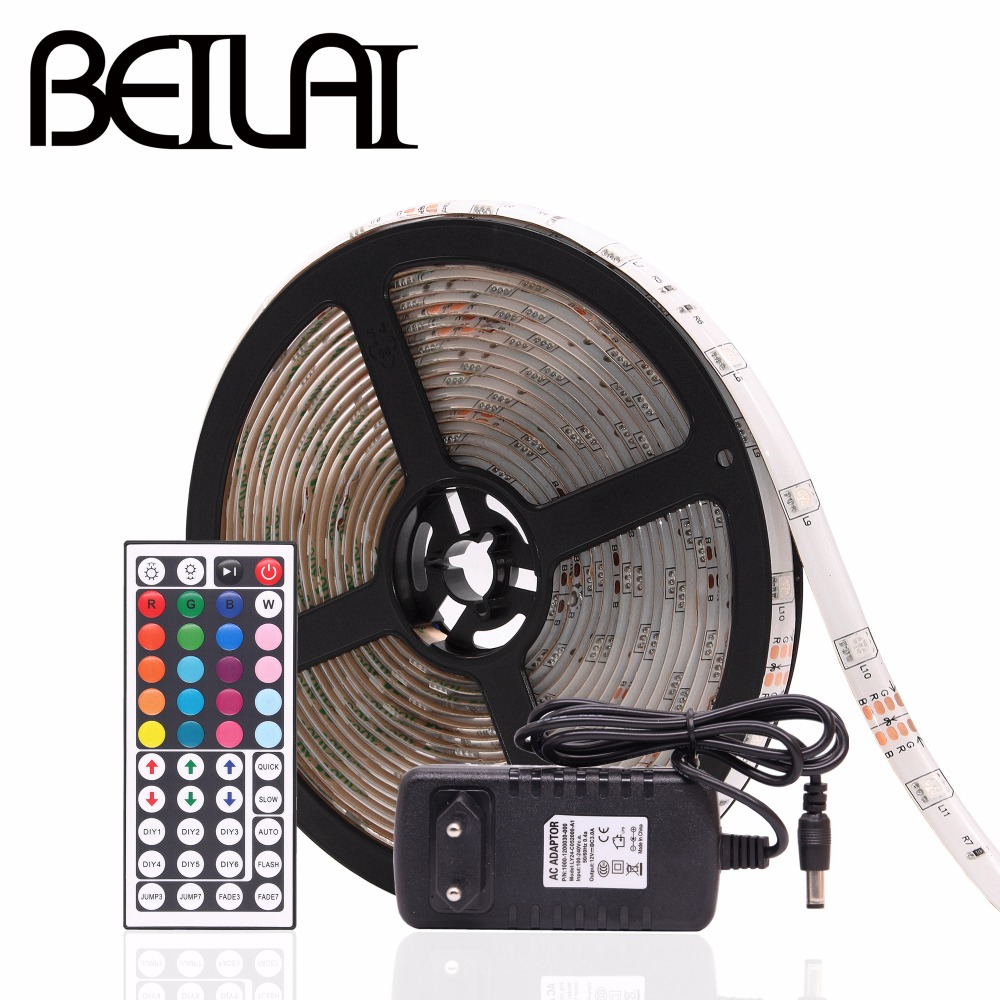DC24V RGB LED Strip Waterproof 5050 30LED/m 30M 15M 10M 5M 1M RGB LED Light Strip Flexible Neon Tape With Power and 44Key Remote 10m 5m 3528 5050 rgb led strip light non waterproof led light 10m flexible rgb diode led tape set remote control power adapter