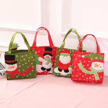 10 Pcs/Lot Cartoon Style Santa Claus Snowman Xmas Christmas Gift Bags Reticule Storage Shopping Bag Decorations 2018