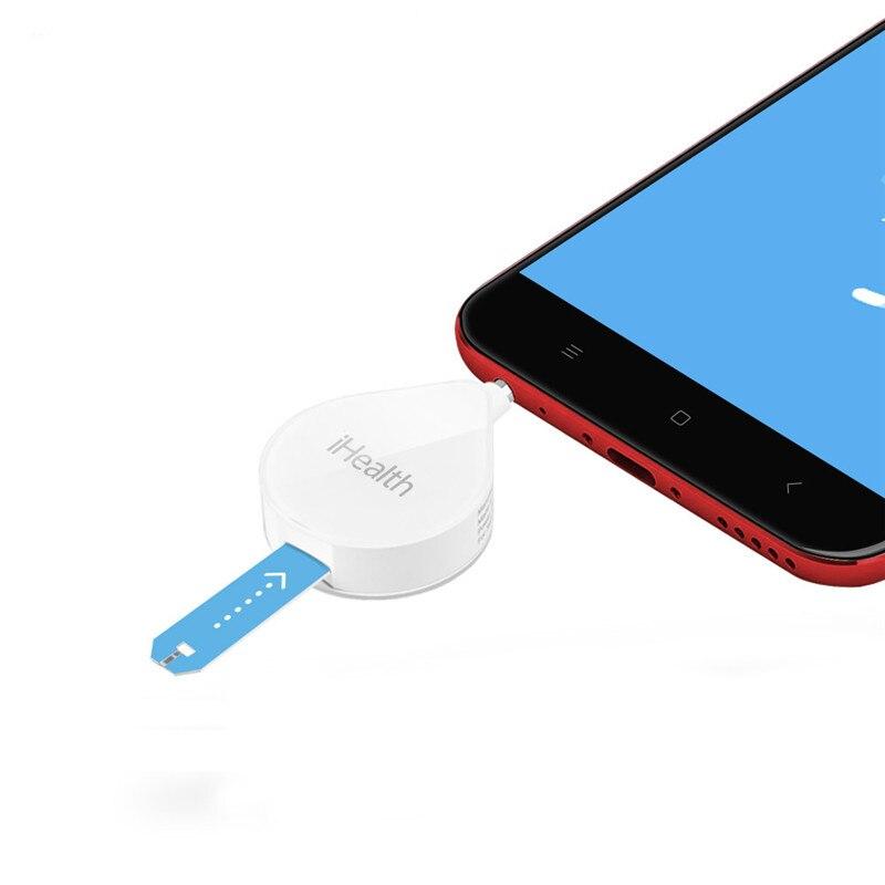 Glucomètre moniteur cyprès puce Gluco testeur avec papier d'essai Android ios maison soins de santé cadeau