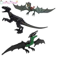 Jurassic Dinosaur Blocks Large Raptors Pterosaurs Mixed Tyrannical Dragon Toy Compatible Building