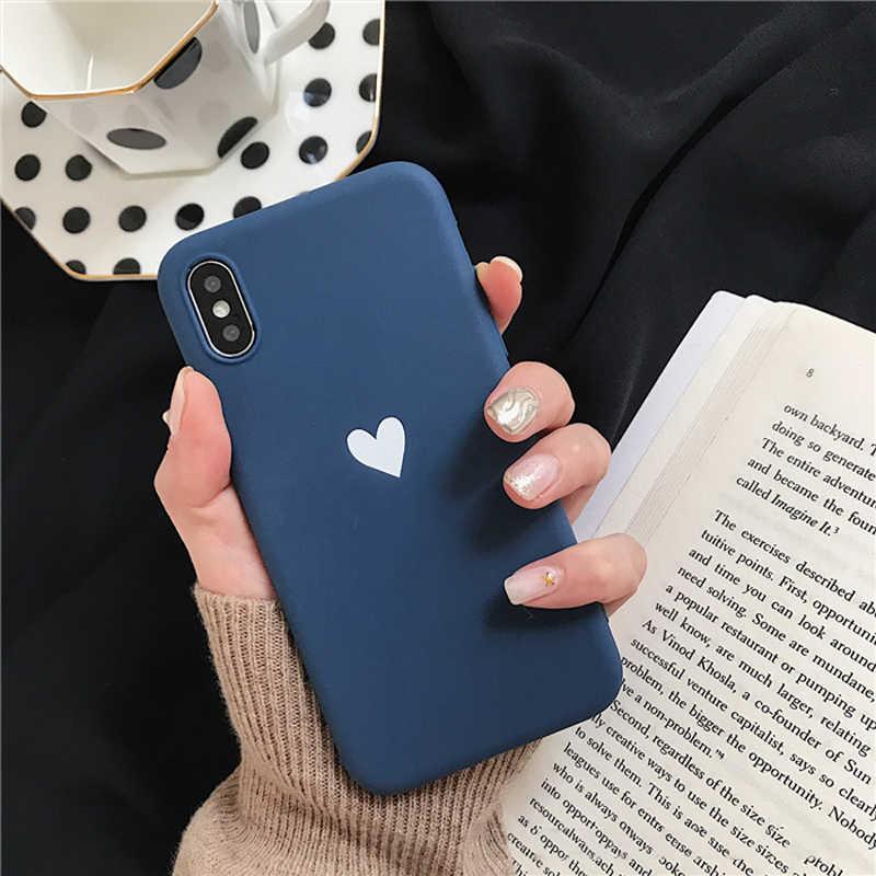 Funda de teléfono de silicona suave Lovebay para Apple Iphone 8 8plus 7 6S 5 5S Plus SE XS Max XR X Love Heart funda trasera ultrafina