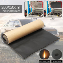 1 рулон, 200 см х 50 см, автомобильная звукоизоляция, омертвевающая, анти-шум, звукоизоляция, хлопок, тепло, закрытый элемент, пена, автомобильные аксессуары