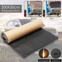1 rolle 200 cm x 50 cm Auto Schallschutz Trittschalldämmung Anti-lärm Schallschutz Baumwolle Wärme Geschlossen Zelle schaum Auto Zubehör
