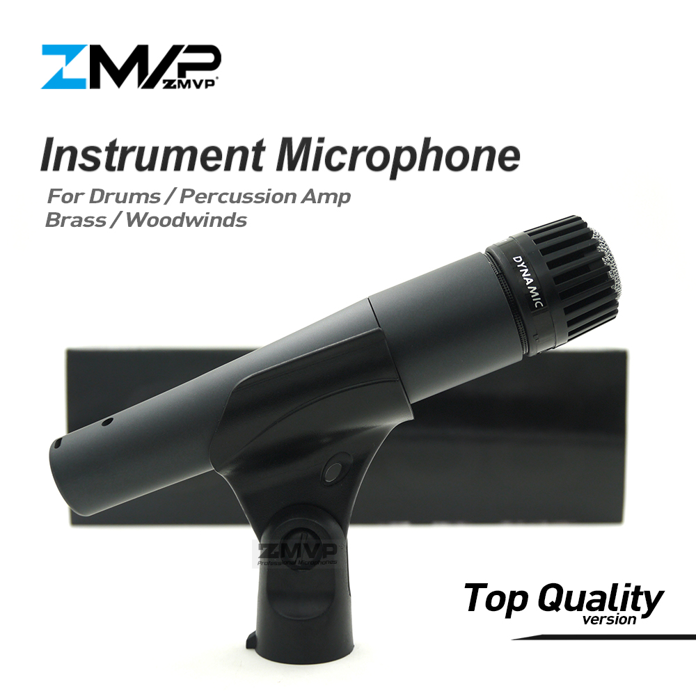 Top Quality Version S 57 LC Professional Instrument Dynamic Wired Microphone 57LC Mic For Drums Percussion Brass Woodwinds Amp