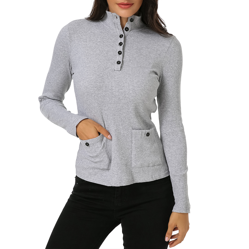 Solid Knitted Sweater Women Pullover Button Long Sleeve Sweaters Plus Size S-XL Female Casual Slim Turtleneck Sweater Outerwear
