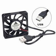 5 Pieces/lot 5V USB Computer Case Fans 60mm 60x60x10mm Mini Cooler Cooling Fan
