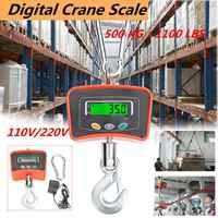 500 KG/1100 LBS Balance de grue numérique 110 V/220 V Balance suspendue industrielle lourde Balance électronique Balance outils