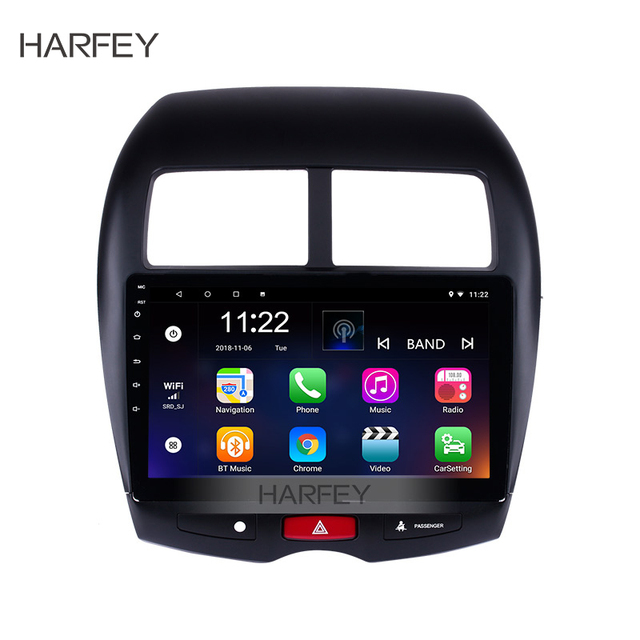 """Harfey 2din 10.1"""" Android6.0/7.1/8.1 GPS Car Multimedia Player For 2010-2015 Peugeot 4008 Mitsubishi ASX 2012 CITROEN C4"""