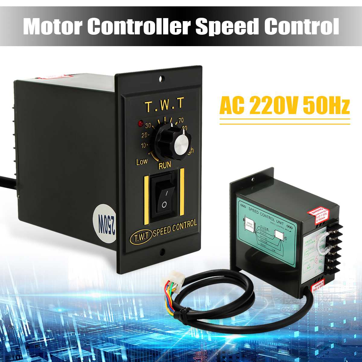 AC 220V Electronic Tool Motor Speed Controller 250W Variable Frequency Converter Best Price