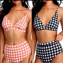Meihuida бикини 2019 Mujer пикантные для женщин Пледы Высокая талия комплект Push Up купальный костюм Купальники для малышек пляжные
