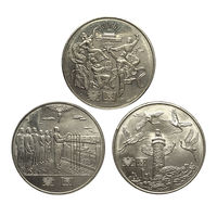 China set 3 PCS Coins, 1 Yuan, AUNC UNC, Commemorative Coin , Uncirculated, For Collection, Gift, 100% Real Genuine Coins