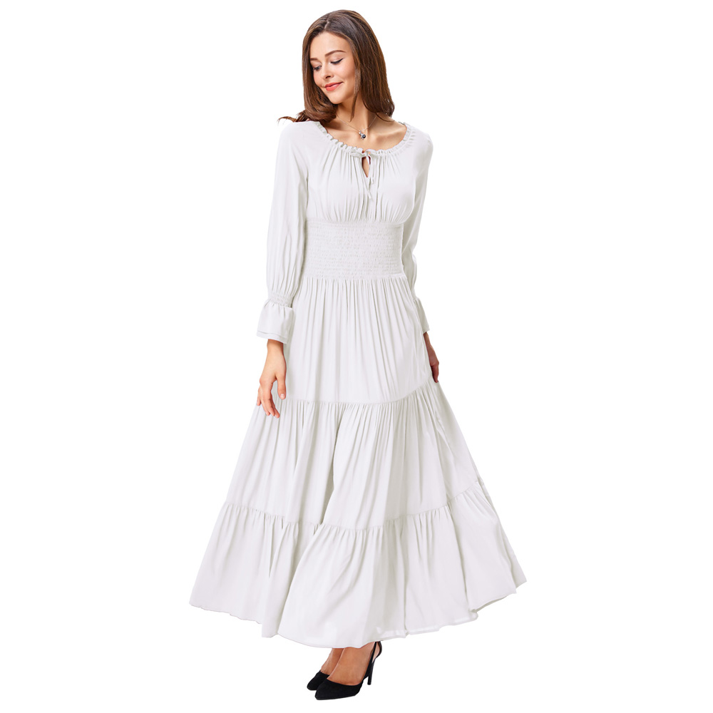 Retro Vintage Long Sleeve Comfortable Cotton Renaissance ...