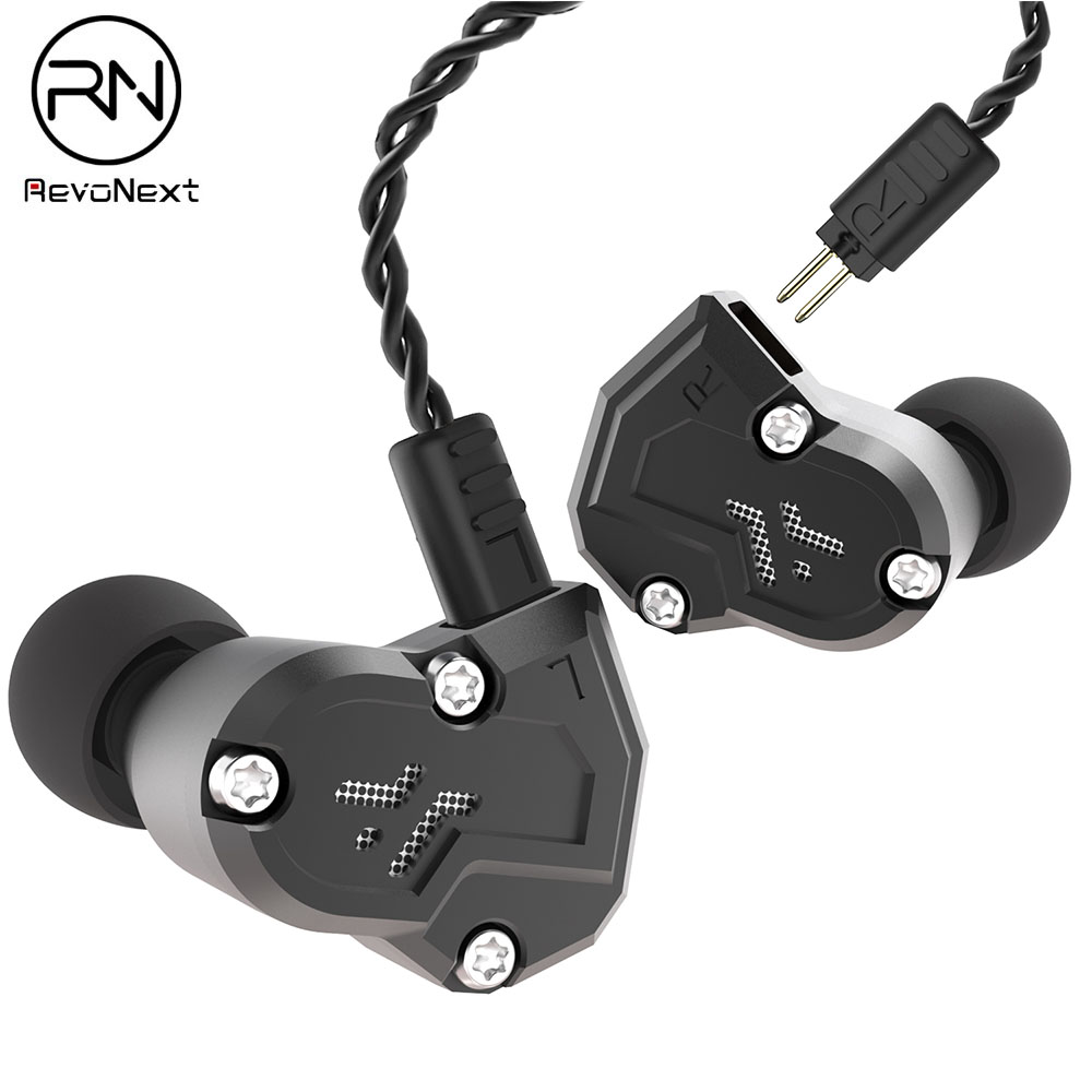 Original Revonext QT3s 2DD + 2BA hybride dans l'oreille écouteur HIFI DJ Monito Sport en cours d'exécution écouteur casque écouteurs mise à niveau Yinyoo QT3