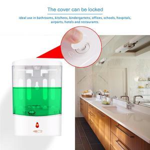 Image 4 - Dispensador de sabão sensor ir automático, dispensador de sabão para montagem na parede com sensor ir, sem toque, 600/700/1000ml casa líquida para cozinha banheiro