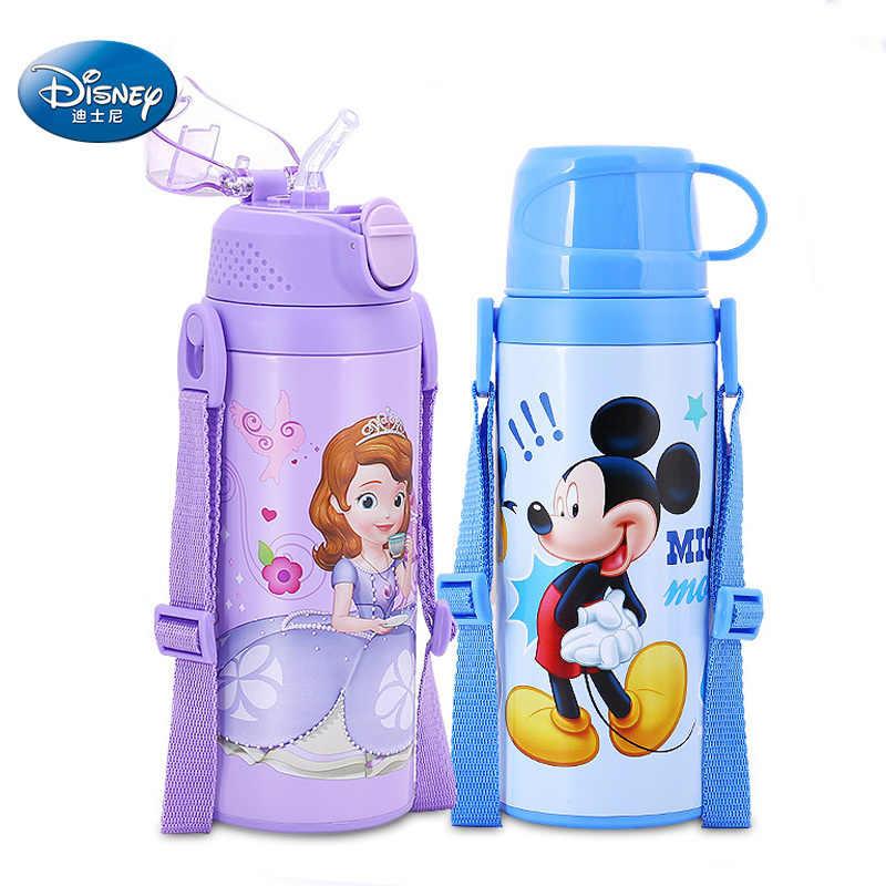 Дисней детская чашка бутылка для питьевой воды Микки Минни термос колба портативный ребенок чашка для кормления путешествия школы 500 мл Герметичная Бутылка