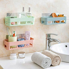 LanLan Bathroom Shelf Adhesive Badkamer Rek Storage Rack Corner Shower Shelf Kitchen Home Decoration Bathroom Accessories(China)