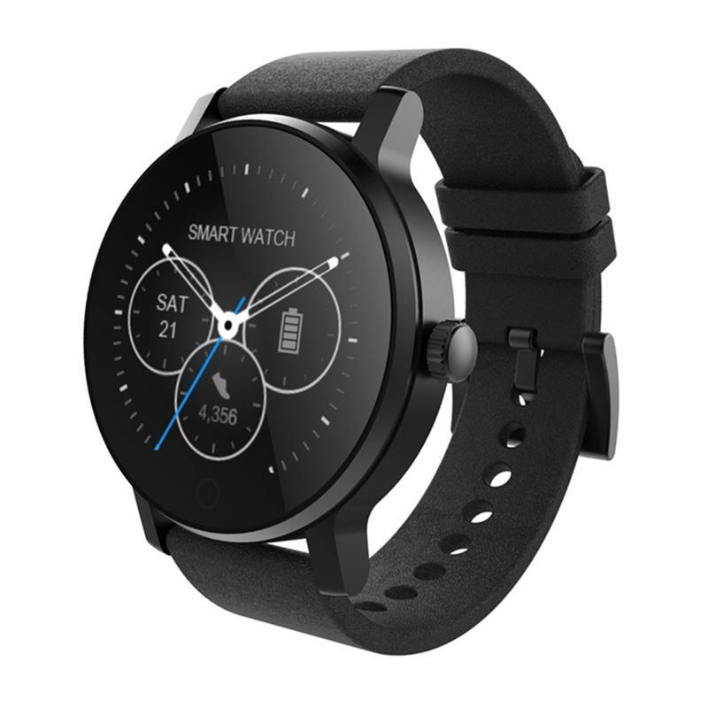 SMAWATCH Étanche Smartwatch Bluetooth Montre Smart Watch Avec Alarme Répertoire Enregistrement Vocal Moniteur de Fréquence Cardiaque Pour Android IOS SMA-09