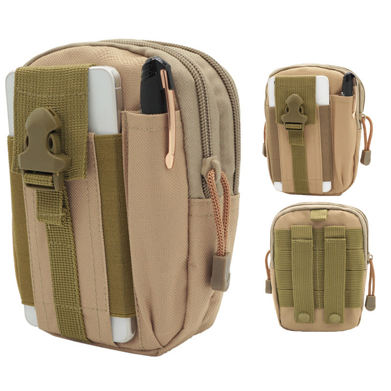 Men Women Waist Pack Bum Bag Pouch Waterproof Military Belt Waist Packs Molle Nylon Mobile Phone Wallet Travel Tool For Unisex