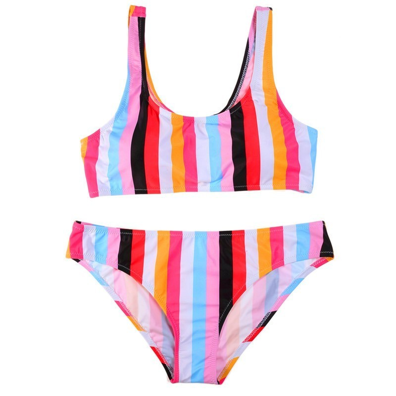 Retro Striped Swimsuit Women Colorful Push Up Bikini Set Three Different Styles Summer Sexy Swim Suits Swimming Suit For Female