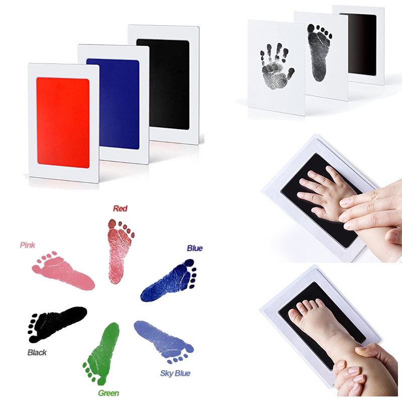 Baby Handprint Footprint Makers Paw Print Pad Foot Photo Frame Touch Ink Pad Newborn Infant Items Souvenir Gifts