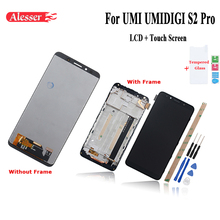 Alesser For UMI UMIDIGI S2 PRO LCD Display and Touch Screen With Frame Phone Repair Parts +Tools +Adhesive +Film For UMI S2 PRO