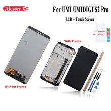 Alesser עבור UMI UMIDIGI S2 PRO LCD תצוגת מסך מגע עם מסגרת טלפון תיקון חלקים + כלים + דבק + סרט עבור UMI S2 פרו