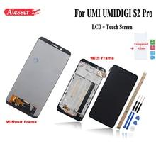 Alesser dla UMI UMIDIGI S2 PRO wyświetlacz LCD i ekran dotykowy z ramą części do naprawy telefonu + narzędzia + klej + folia do UMI S2 PRO