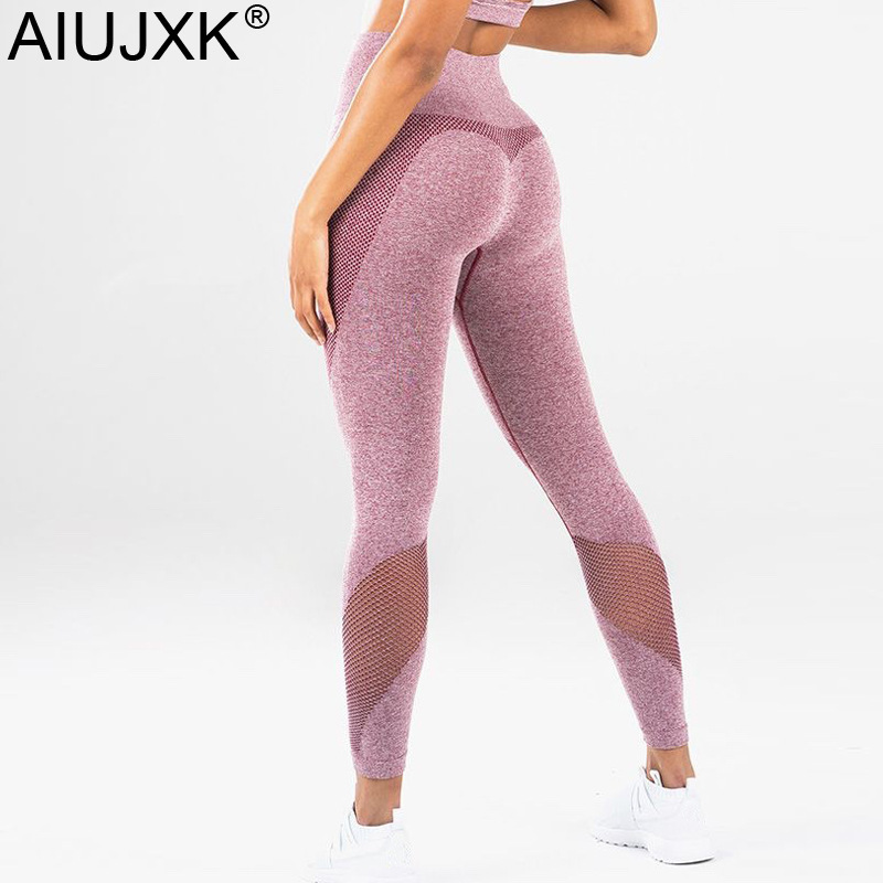 estetica di lusso acquista per genuino brillantezza del colore Aiujxk 2019 High Waist Seamless Leggings Women Push Up Pants Pantaloni  Fitness Sport Run Pink Jeggings Workout Casual Legins