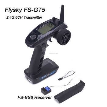 Flysky FS-GT5 FS GT5 2.4G 6CH Transmitter with FS-BS6 Receiver Built-in Gyro Fail-Safe for RC Car Boat Remote control - DISCOUNT ITEM  40% OFF All Category