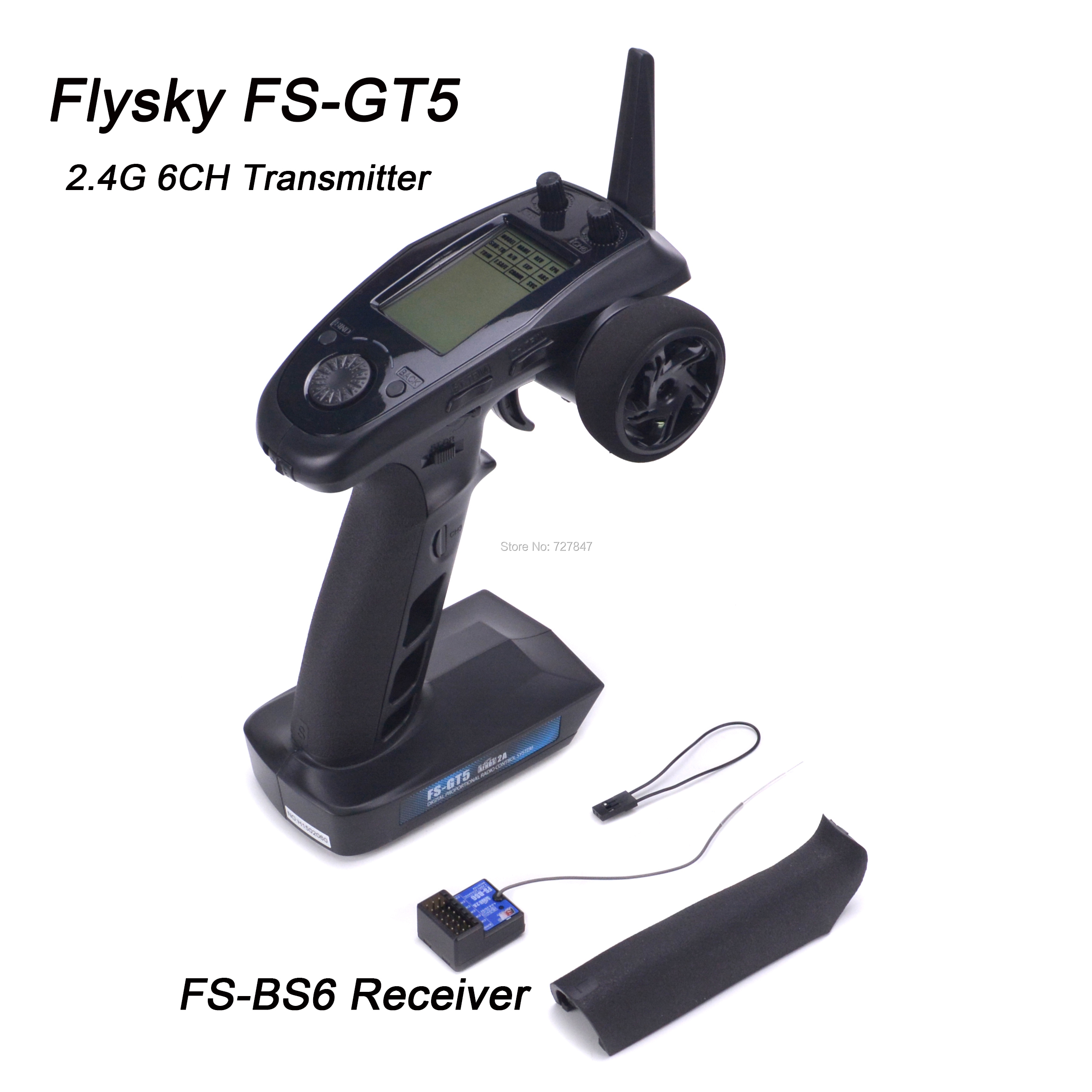 Flysky FS GT5 FS GT5 2.4G 6CH Zender met FS BS6 Ontvanger Ingebouwde Gyro Fail Safe voor RC Auto Boot afstandsbediening-in Onderdelen & accessoires van Speelgoed & Hobbies op  Groep 1