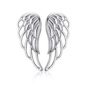 Image 4 - Strollgirl Genuine 925 Sterling Silver Earrings 2020 Hollow Feather Fairy Wings Stud Earrings for Women Fashion Jewelry Gifts
