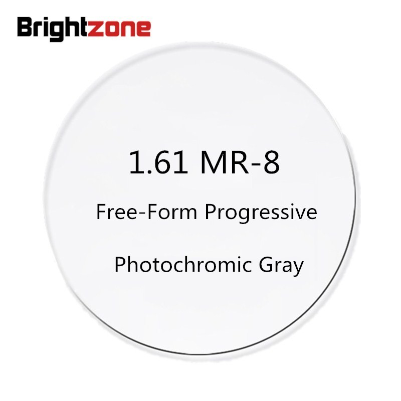 1 61 MR 8 Free Form Progressive Photochromic Gray No line AR Diopter Prescription Glasses Lenses