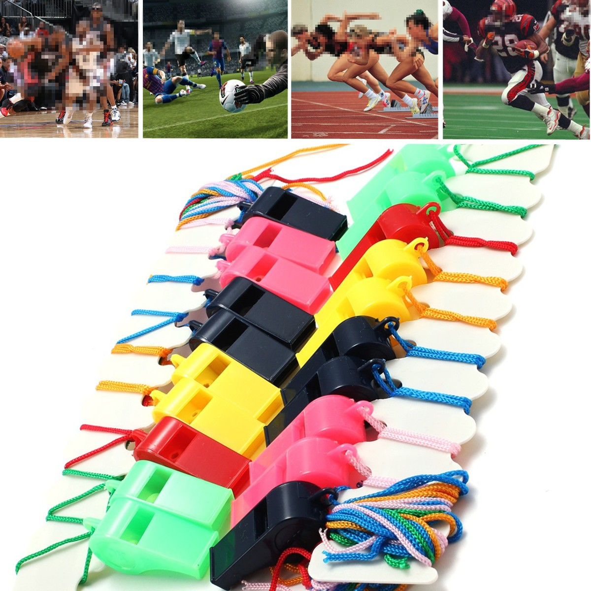 20Pcs Whistle Plastic Soccer Football Basketball Hockey Baseball Sports Referee Whistle Cheerleaders Cheer Survival Outdoor