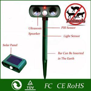 Image 3 - Répulsif solaire ultrasonique, 2 pièces, répulsif pour animaux de plein air, répulsif pour chien/chat/oiseau/taupe, PIR, renards, fournitures de jardin