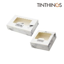 100 PCS Marble Box Paper Gift Packaging Food Cookie Candy Wedding Party Favors Cake With Window Cardboard Present